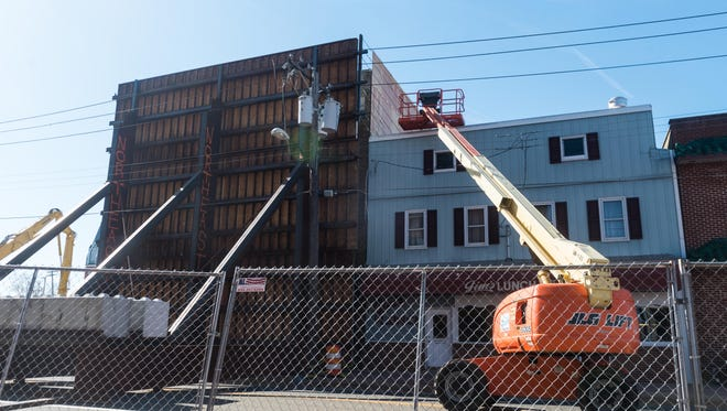 There was slight evidence of movement Monday on the demolition of 109 East Main St. in Millville.