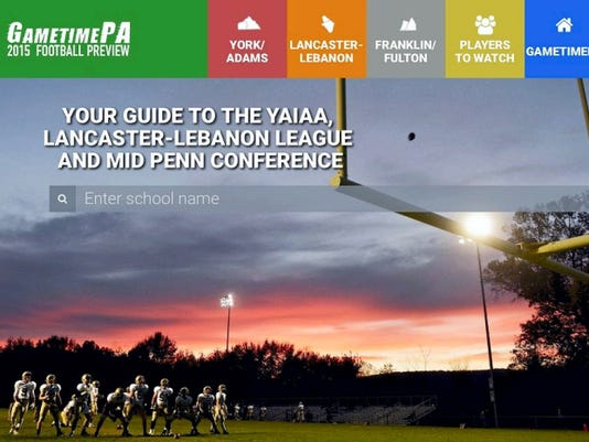 The 2015 GameTimePA.com football preview features overviews for more than 50 teams across District 3 and interactive week-by-week schedules for the YAIAA, L-L League and Mid Penn.