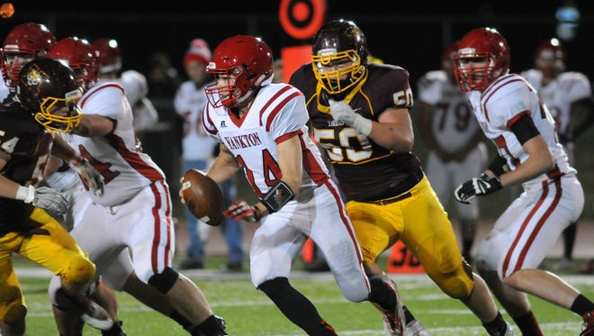 Harrisburg's Jacob Headlee (50) has committed to play football for the University of South Dakota.