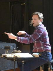 Conductor Andrew Altenbach at rehearsals for Tri-Cities