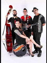 The Twangshifters are a rockabilly band from Portland.