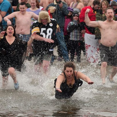 The 6th Annual Leap in the Lake sponsored by the Lake