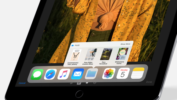 The dock is coming to the iPad