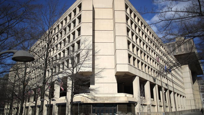 The FBI headquarters is seen on February 2, 2018 in Washington, DC.