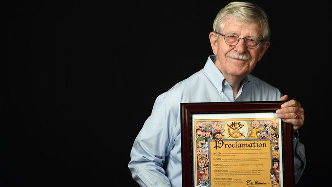 Knoxville News Sentinel cartoonist Charlie Daniel was recognized by the National Cartoonists Society for his 50-plus years of cartooning on Saturday, Oct. 8, 2016.