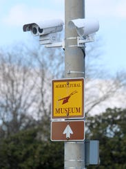 A camera is shown on North Du Pont Highway in Dover. Delaware Department of Transportation Secretary Jennifer Cohan believes that control and management of more than 90 percent of the cameras, monitors, traffic signals and detectors will allow the state to more easily transition into a fully connected and autonomous world.