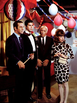 Dick Gautier, second from left, played Hymie the Robot in NBC's 'Get Smart.'
