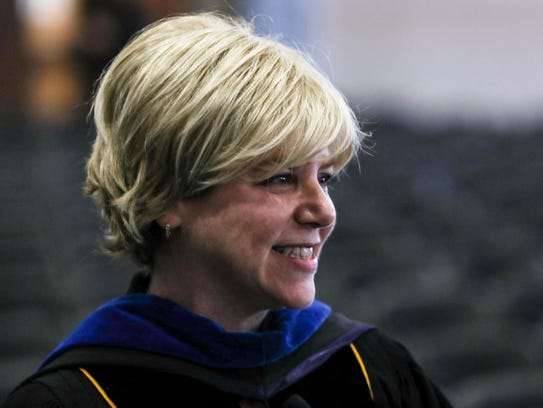 Dr. Marjorie Hass is the first woman president of Rhodes College. (Brad Vest/The Commercial Appeal)