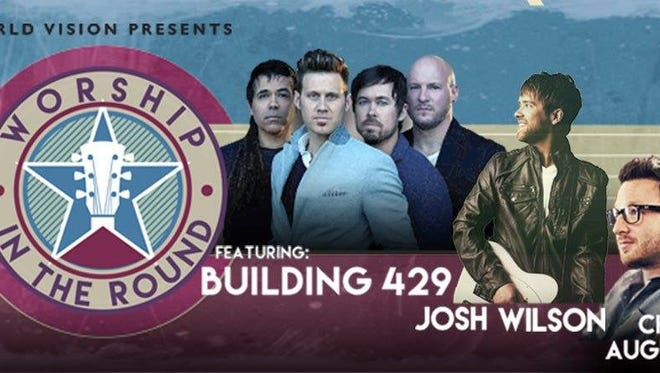 Well-known Christian band Building 429 along with Josh Wilson and Chris August are playing Friday in Marshfield.