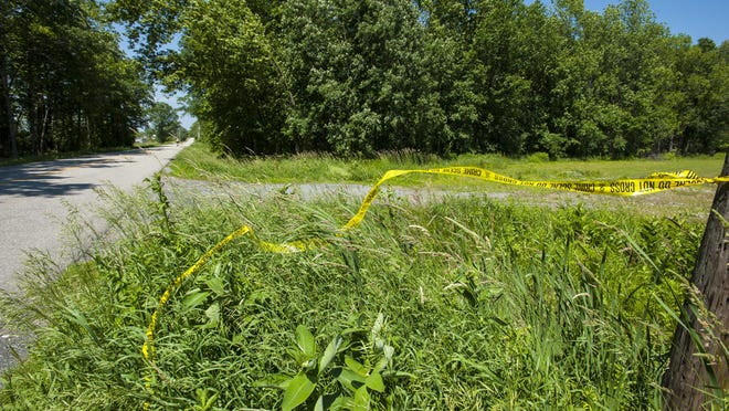 The scene on Thursday where Dr. Kenneth Najarian of Charlotte was killed while riding his bike on Greenbush Road in Ferrisburgh on Wednesday.