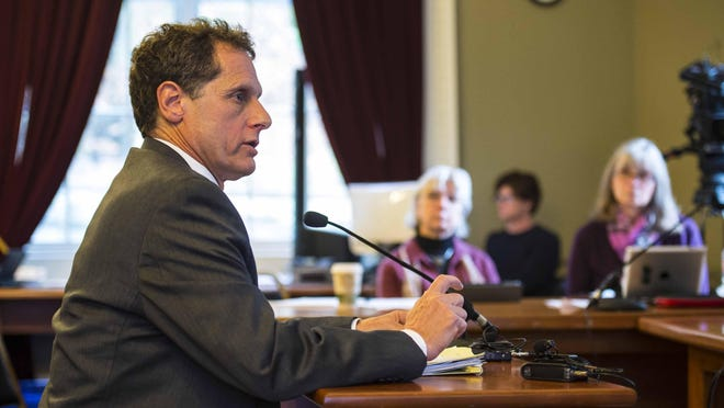 Ken Schatz, the commissioner of the Department for Children and Families, testifies about DCF worker safety before the Joint Legislative Child Protection Oversight Committee at the Statehouse in Montpelier on Oct. 20.