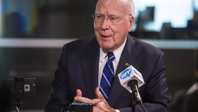 U.S. Senator Patrick Leahy at the Burlington Free Press on Oct. 13, 2016.