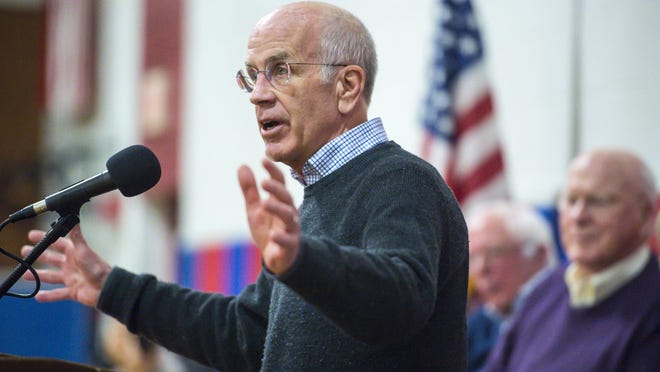U.S. Rep. Peter Welch speaks during a town hall meeting held by Vermont's congressional on March 25, 2017.