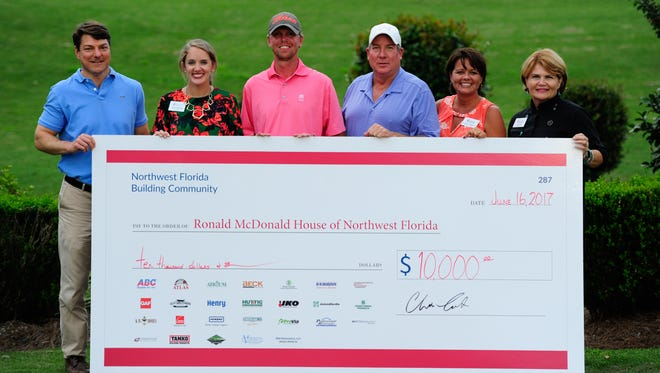 Ronald McDonald House of Northwest Florida received a $10,000 donation from the ABC Supply Co. Invitational Golf Tournament held on June 16, 2017.
