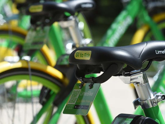 The bike share company LimeBike, pictured here, has partnered with Metuchen to bring the dockless bike share program to the borough at no cost to the taxpayers.