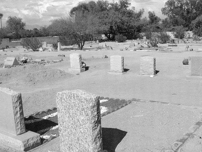 Early photo of Camelback Cemetery on McDonald Drive,