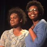 """Cast members appear in Muncie Civic Theatre's production of """"The Color Purple."""""""