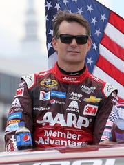Jeff Gordon is introduced prior to the NASCAR Sprint Cup Series Windows 10 400 at Pocono Raceway on Sunday.