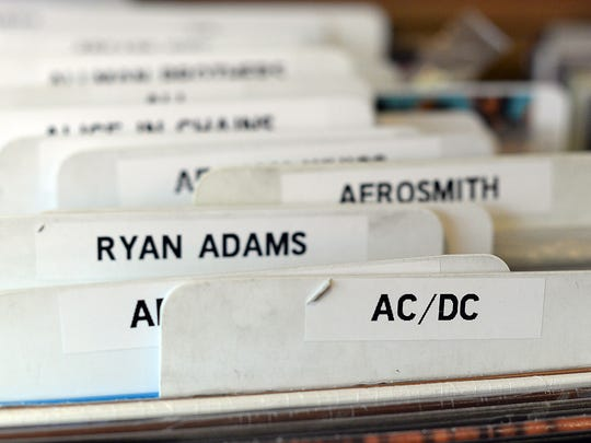 The Exclusive Company carries thousands of vinyl LP albums at the store on Dousman Street in Green Bay.