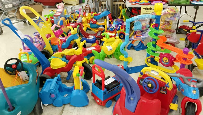 Kids consignment sales offer a wide assortment of toys, equipment and clothes for all ages.