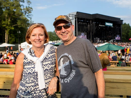 Former DuPont CEO Ellen Kullman and former Delaware Governor Jack Markell at the Firefly Music Festival in 2016.