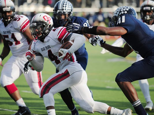 HS football Oak Park at Southfield wk8