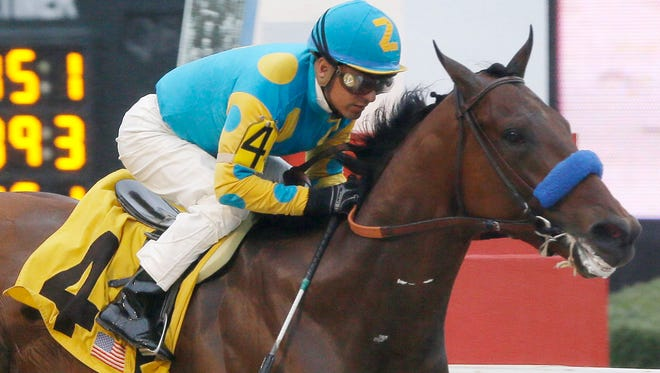J.B. McKathan broke American Pharoah at McKathan Brothers Training Center in Marion County. Pharoah won the Kentucky Derby and will go for the Preakness Stakes on Saturday. McKathan's still chasing history as a trainer seeking a Triple Crown horse.