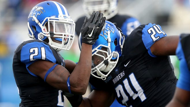 MTSU beats North Texas 41-7 during the NCAA college football game, and MTSU's last home game of the season, on Saturday, Nov. 21, 2015.