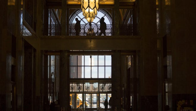Inside the Fisher Building located in New Center on Monday, November 14, 2016 in Detroit.