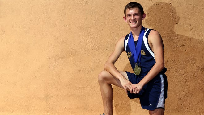 Cathedral senior Brandon Seagreaves won the Texas Association of Private and Parochial Schools Class 6A cross-country individual title Monday, Oct. 29, 2018, in Waco.