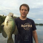 Colin Locke with a big central Wisconsin crappie