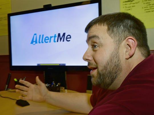 Tim Mussmon, Chambersburg, talks about the app, AllertMe,