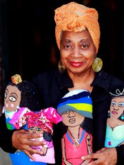 Della Wells makes collage artworks and art dolls. She