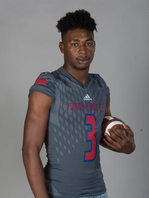 Pine Forest defensive end Jaylen Clausell went into cardiac arrest while playing basketball Wednesday night and remains on a ventilator and in critical condition.