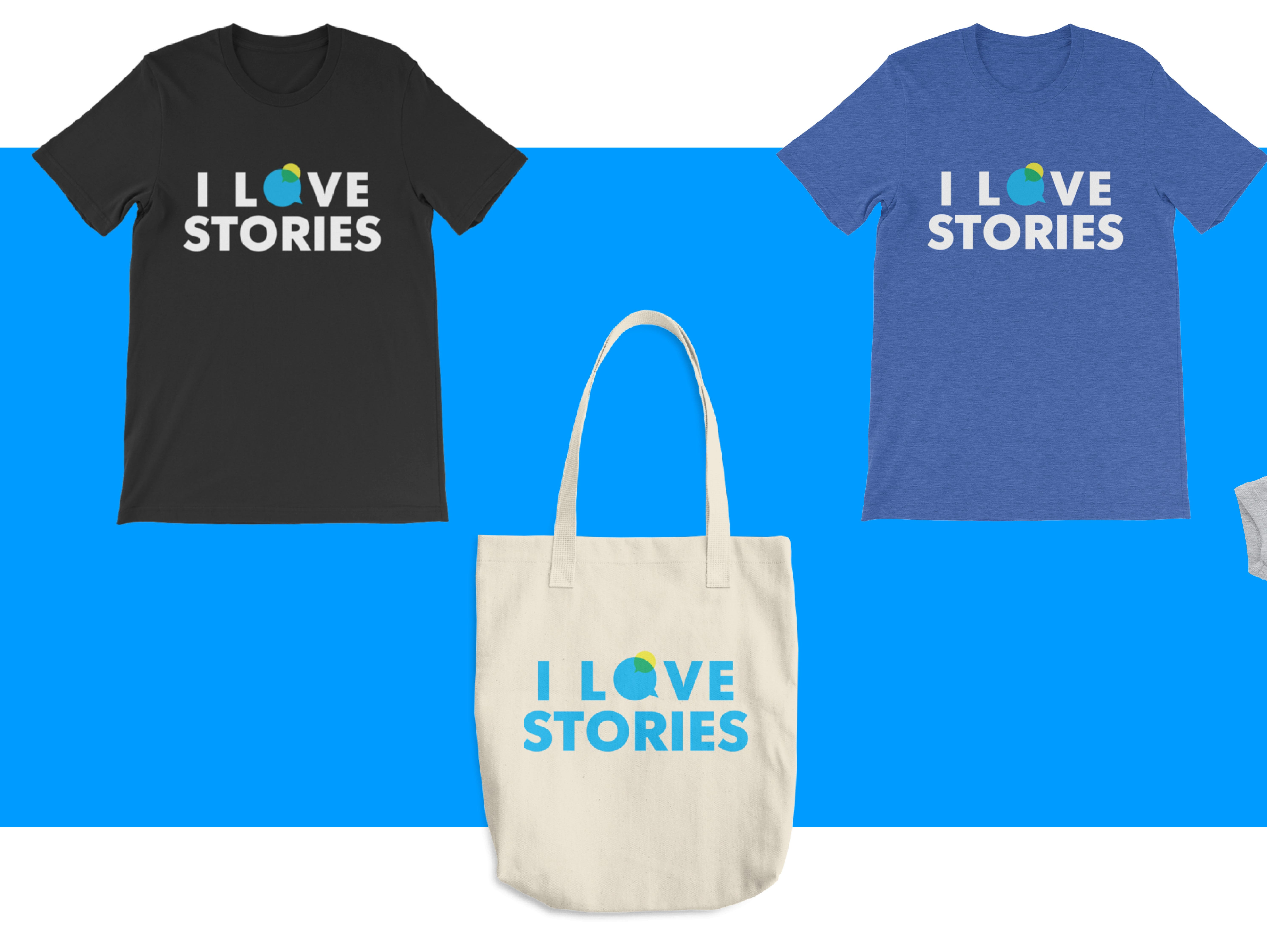 You've heard the stories, now you can show your love of them. Shirts, totes, notebooks and more ship for free.