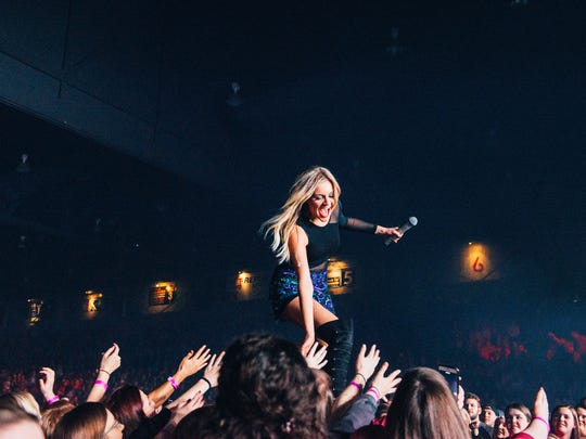 Knoxville's Kelsea Ballerini performs on Thomas Rhett's Home Team Tour at Big Sandy Superstore Arena in Huntington, West Virginia.