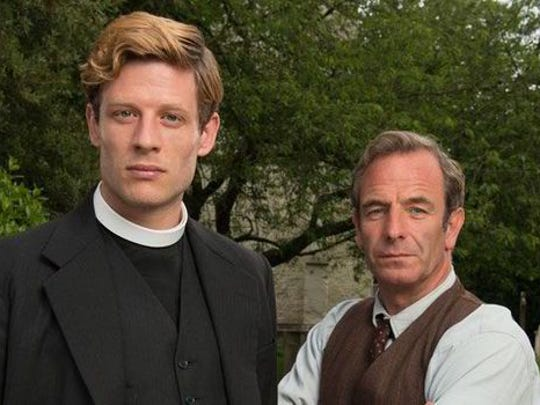 Robson Green (right, with James Norton) plays a world-weary policeman in