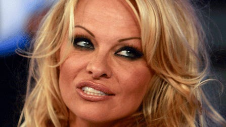 Actress Pamela Anderson appeared on California's online list of delinquent taxpayers in 2012, cited for owing more than $112,000 in state income taxes.