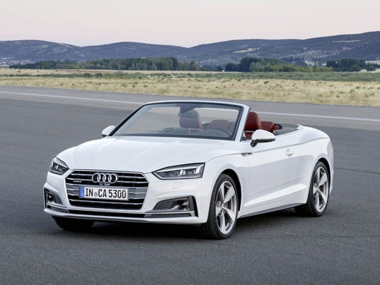 2018 audi a5 and s5 convertibles at 2017 detroit auto show. Black Bedroom Furniture Sets. Home Design Ideas