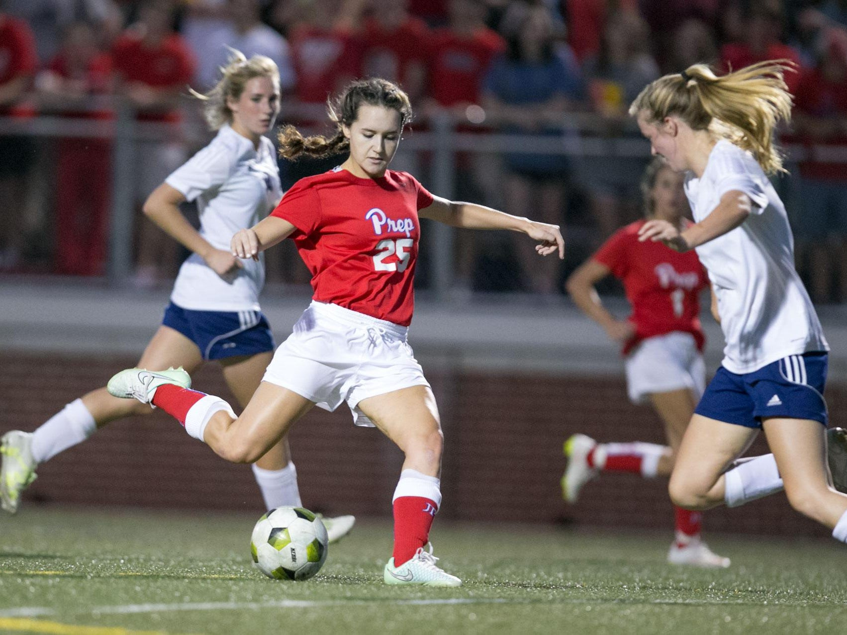 Clayton Noblin and the Jackson Prep Lady Patriots won the MAIS AAAA championship over Jackson Academy 2-1 on Monday, and they finished No. 1 in the state in girls soccer.