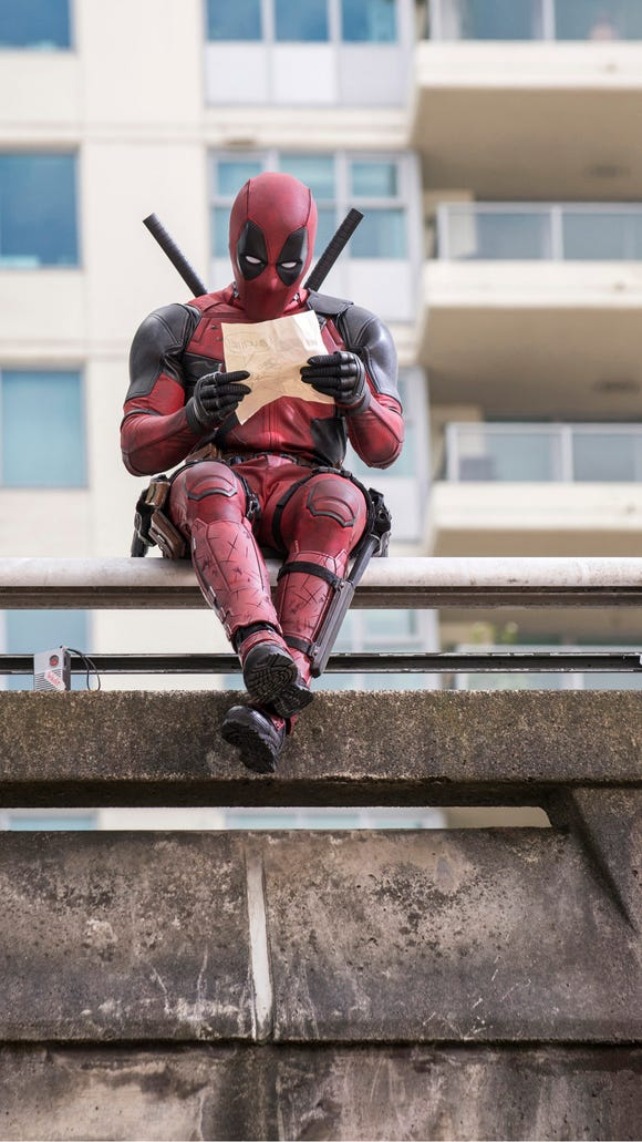 Ryan Reynolds stars as 'Deadpool' in the film out Feb.