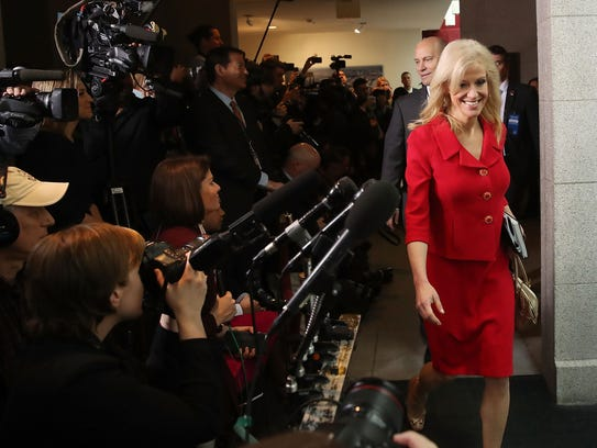 Kellyanne Conway attends a House Republican Conference
