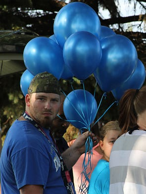 In memory of Reighlee Stevenson, friends and family gathered together at Menominee Park in Oshkosh to release balloons in her name. Reighlee died in  a recent car crash in Marathon County.