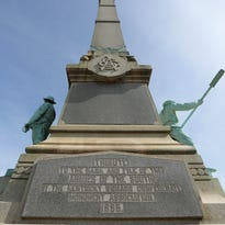 The Confederate monument on S. Third Street at the University of Louisville.  Mayor Greg Fischer and UofL President James Ramsey had a press conference on Friday morning announcing that the monument will be removed immediately. April 29, 2016