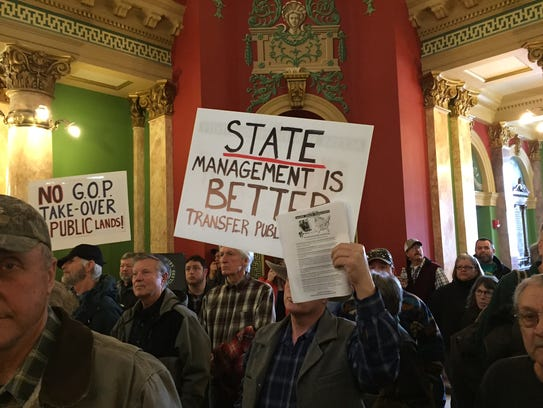 A rally at the Montana Legislature earlier this year