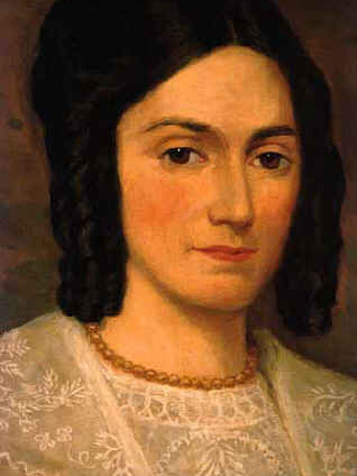 Emma Smith, wife of Joseph Smith Jr., was the first president of the Relief Society, the LDS Church's organization for women.