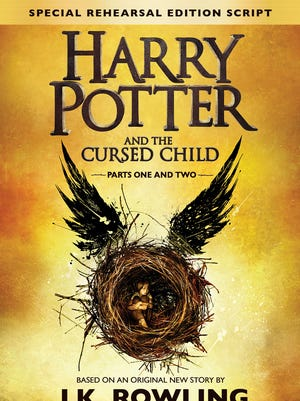 Cover for the book of 'Harry Potter and the Cursed Child' by J.K. Rowling, John Tiffany and Jack Thorne.