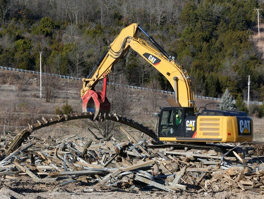 Roller Coaster Demolition : A roller coaster was demolished in branson and local
