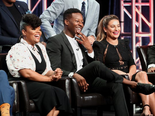 Yvette Nicole Brown, left, Brandon Micheal Hall and