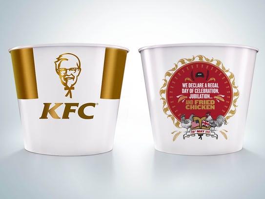 KFC's commemorative bucket.